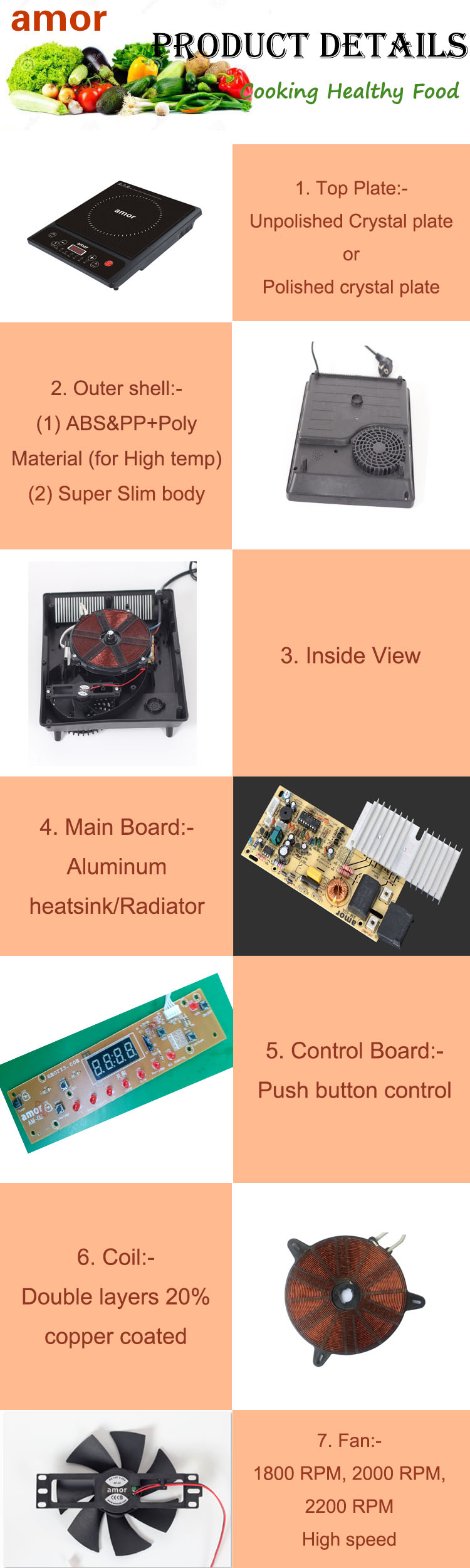 Hot Sales India Model Vigico Induction Cooker Buy Circuit Board Low Price Cookerb3 View