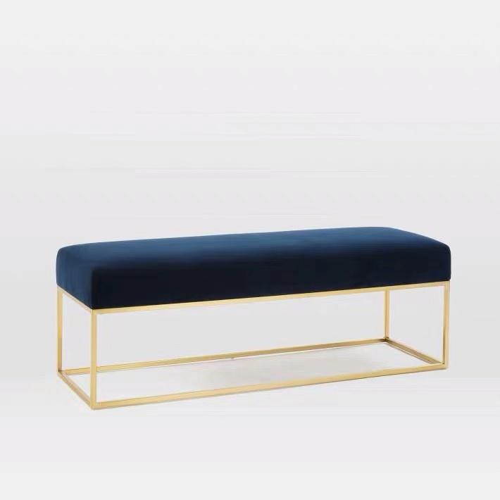 Factory Velvet Sofa Bench Ottoman Bench, Velvet Bed End Stool Bench Bed Bench, Velvet Ottoman Bench Chair