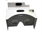 VR Cardboard White And Brown Vr Virtual Reality Viewer 3D Vr Video Glasses Blue Film