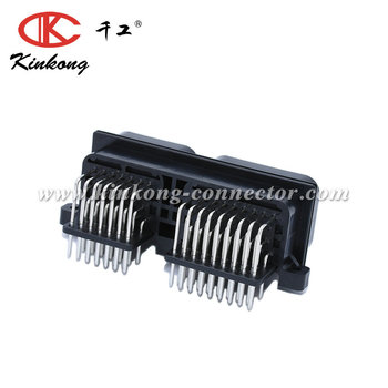 60 hole blade car electrical PCB connector 1437288-5