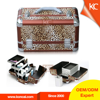 Fashion high quality professional small PVC glitter makeup case boxes with handle