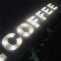 custom made 3d led bulb light signs decorative illuminated metal marquee led sign