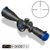 Discovery VT-3 6-24x50 SFAI Glass Etched MIL DOT 30mm Tube Dia. Optical First Front Focal Plane Reticle Scope FFP