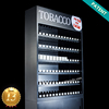 Exclusive Patent Large Floor Acrylic Cigarette Display Stand With AD Light Box