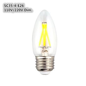 New Design Base Not Easy Burn Out Replace 40w Led Filament C35 Led  360degree Led Bulb Lamp E12 Led Bulb - Buy E12 Led Bulb,C35 Led Filament  Bulb,E12