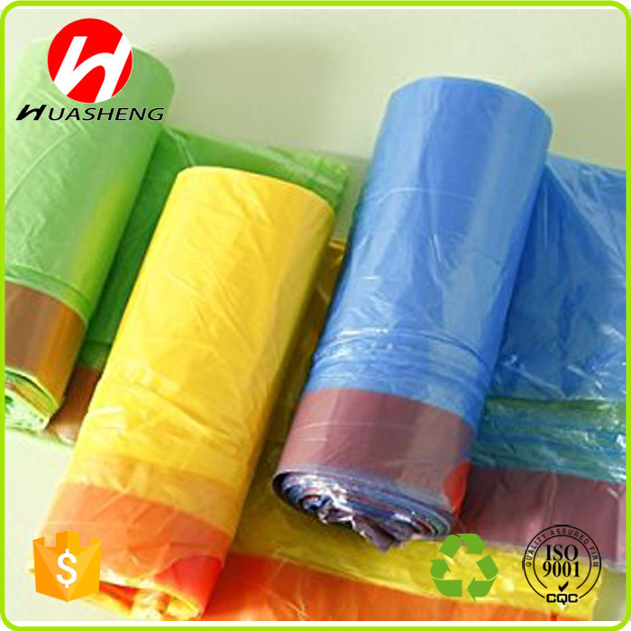 Customized HDPE/LDPE Plastic Kitchen Drawstring Trash Bag from manufacture