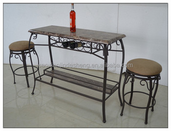 Wrought iron bar chair and tables commercial iron cafe chair bar chair with cheap price & Wrought Iron Bar Chair And Tables Commercial Iron Cafe Chair Bar ...