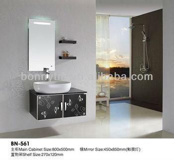Bn-561-1 Idea Stainless Steel Wall Bathroom Cabinet With Led Light ...