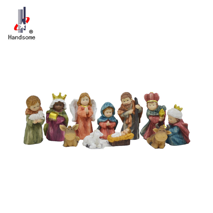 Christmas Decoration Nativity Set Indoor Resin Cribs