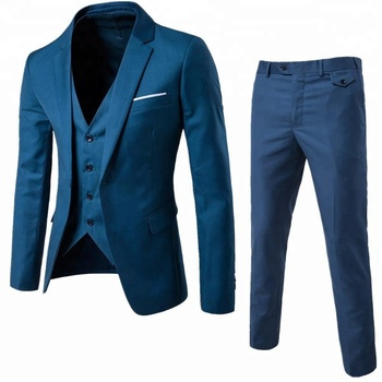 Business blazer for men 2018 western style plus size S-6XL 3 pieces coat pant men wedding suit