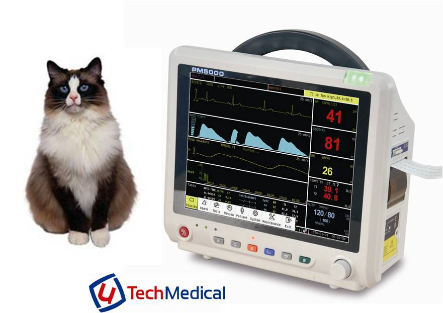 12.1 Inch Veterinary Multipara Patient Monitor With Nellcor ...