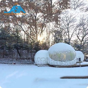 2 Rooms Bubble Tents, Inflatable Clear / Semi-Clear Bubble Tents, Bubble Huts