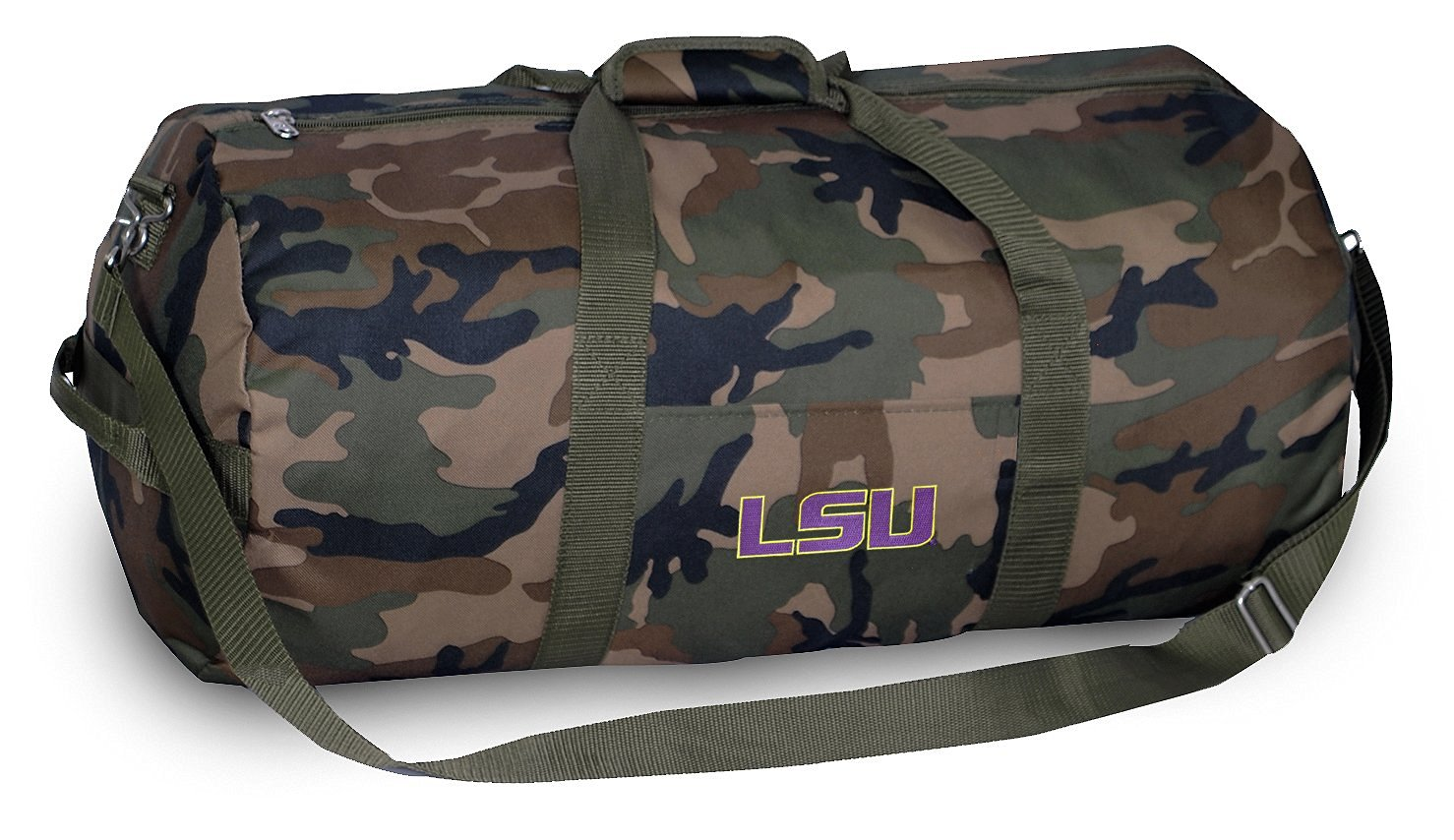 LSU Tigers CAMO Duffle Bag LSU Duffel Suitcase Luggage