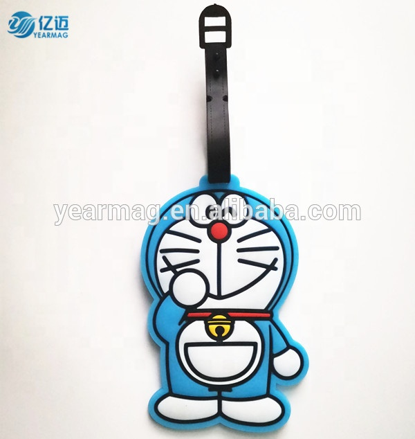 Cheapest price custom made colorful travel pvc luggage tag for baggage decoration