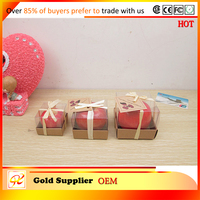 Provide good quality red apple shaped scent candle ,fruit candel