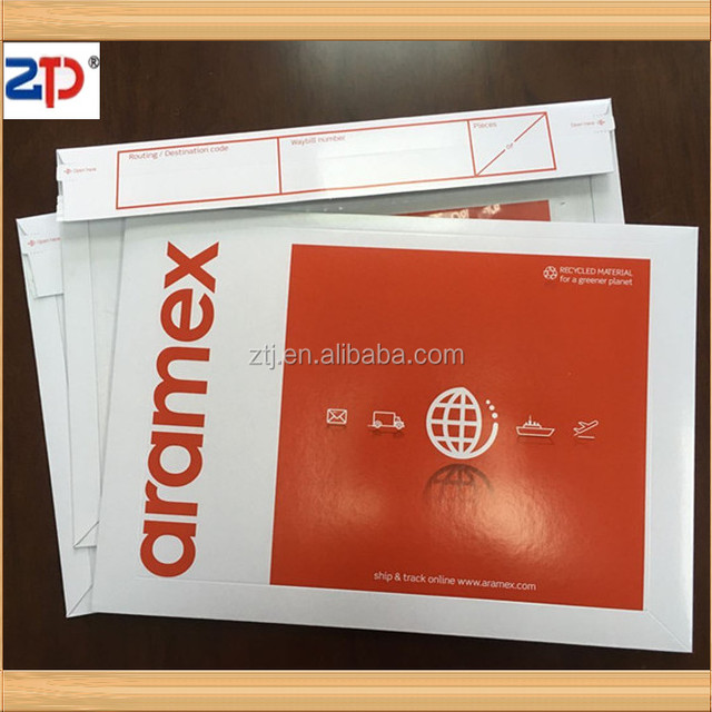 4 Color Printed Customized Envelope With Document Pouch