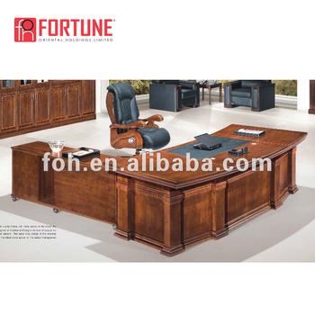 Antique Solid Wood Executive Desk Large Foh 2333