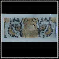 Aprise - Tiger hotfix rhinestone heat transfers iron on motif designs wholesale