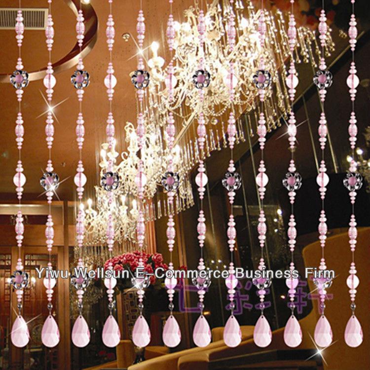 Main rideaux salon mat riau acrylique perles rideaux de porte pour la d coration int rieure y30 - Rideaux de perles pour portes ...
