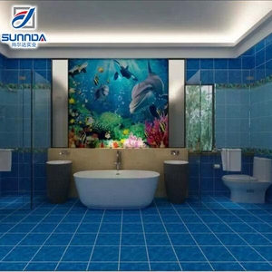 China popular new design 3d ocean ceramic self adhesive wall and floor tiles price in pakistan