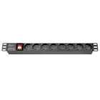 19 inch rack French France pdu socket with switch