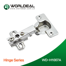 high quality degree 105 slide-on one way furniture door nickel plated IRON hinge