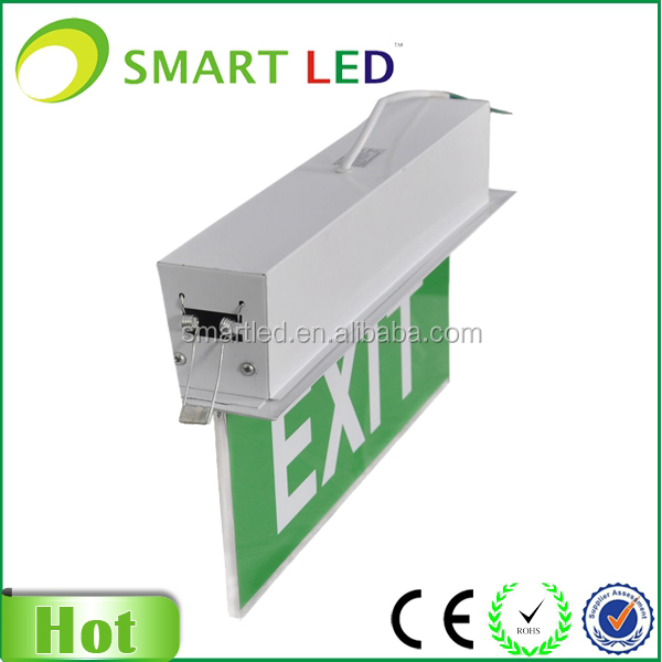 Fire Exit Sign Ce Rohs Saa Battery Backup Led Exit Light,Emergency ...