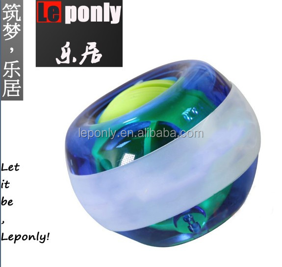 china gyroscopic custom power force wrist ball with Led and counter