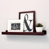 Floating Shelves Display Wooden Wall Mount Ledge Shelf Picture Record/Album Photo Ledge