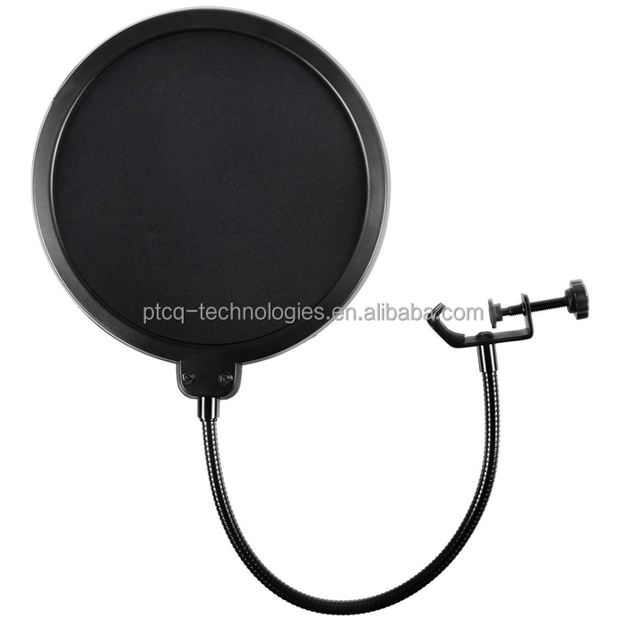 Big size dual gelaagde ronde vorm shock mounts studio microfoon pop filter
