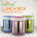 High quality colorful metal bento lunch box food container plastic lunch box