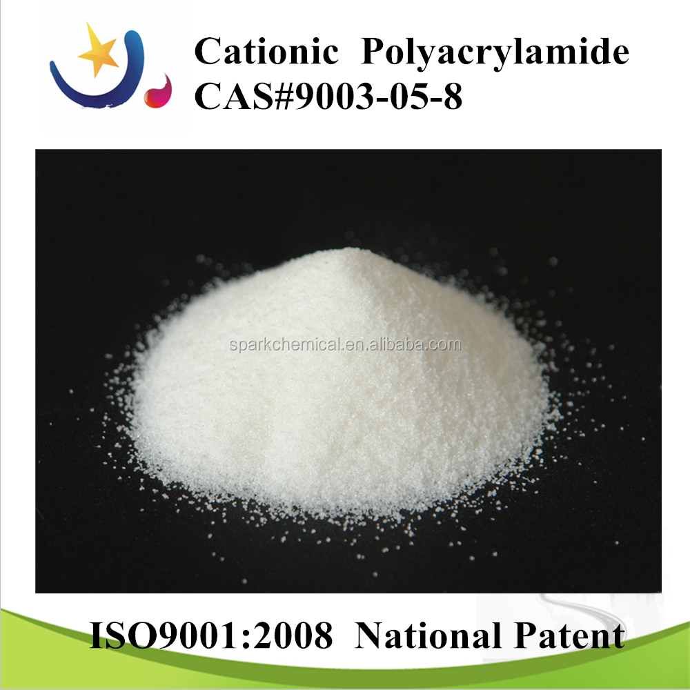 cationic polymer for solid waste treatment
