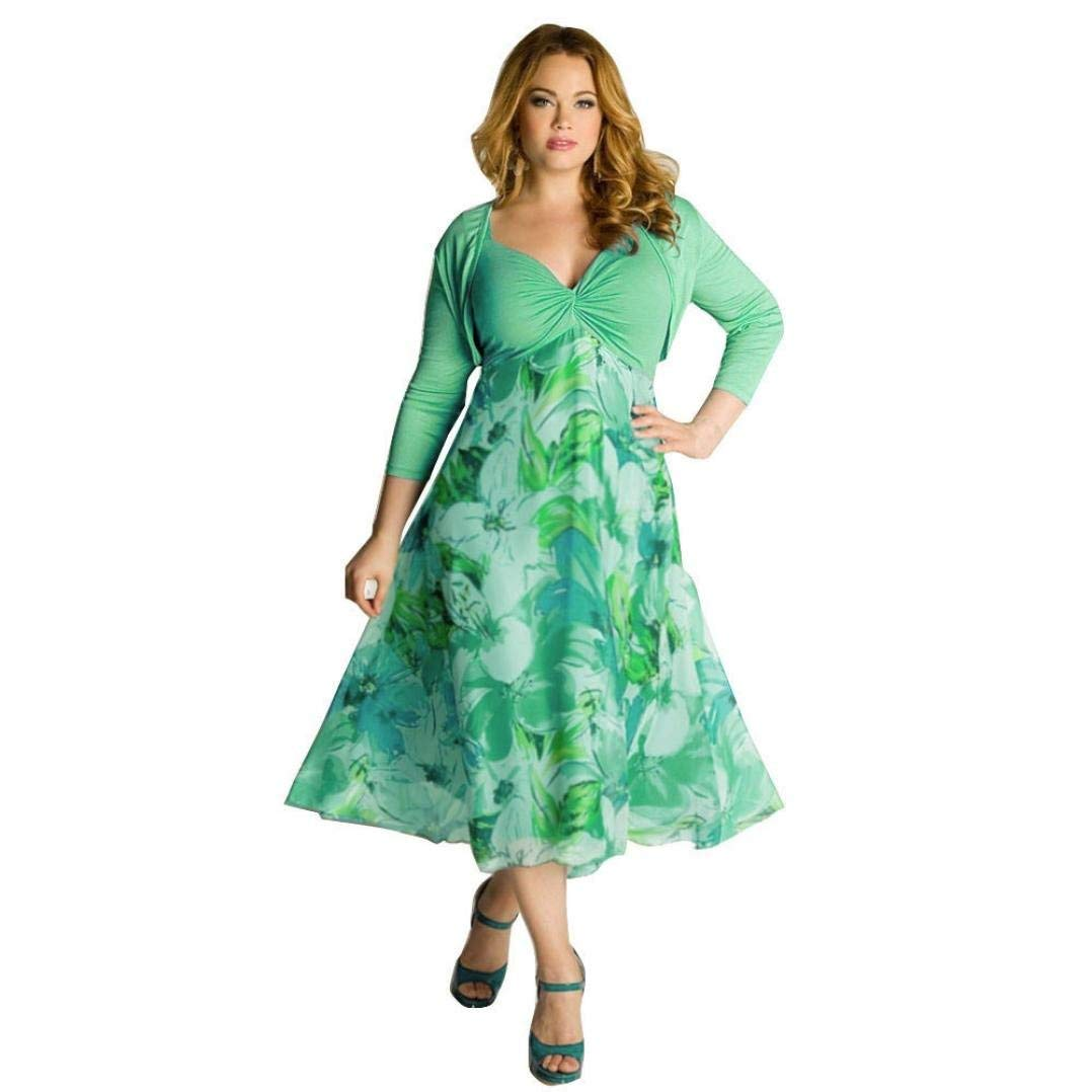 60d2f434f29da Get Quotations · Yuxikong Plus Size Dress