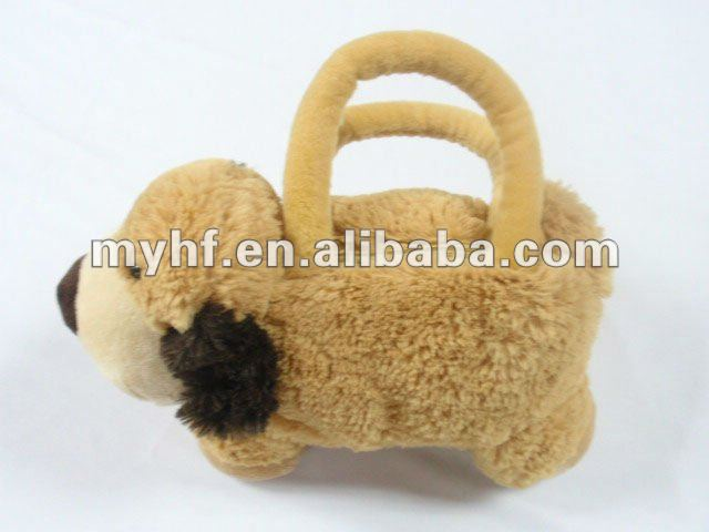 Lovely Plush Dog Hand Bag/plush Dog Purse
