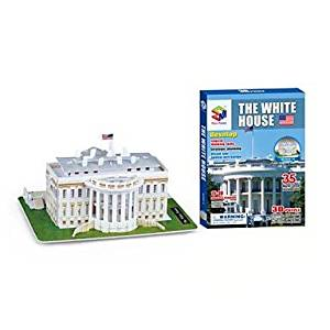 BuW The White House 3D Puzzles DIY Toys for Children and Adult Toys(35PCS),creative toys of boys girls preschool education games & puzzles hobby