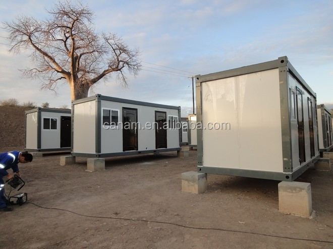 Modular mobile two storey container house
