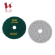 Hot sales 3 step fiber material diamond marble granite hand polishing pads