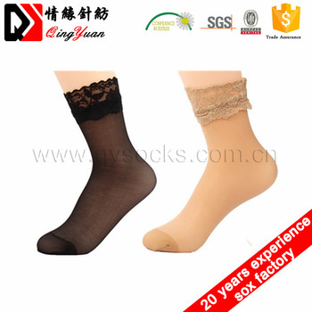 Lady lace silk socks skin color socks women cheap wholesale socks