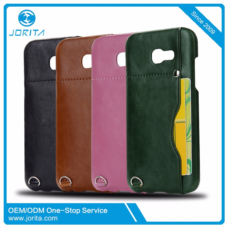 2017 China Supplier Luxury high quality pu leather phone case cover for Samsung Galaxy A5