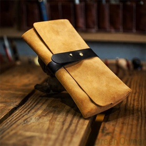 Suede wrist watch bag Travel watch pouch/Leather watch box, 1 slot single watch case/gift box package for men