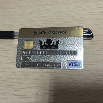 08mm thickness custom silver metal 4428 chip visa credit card - Metal Visa Card
