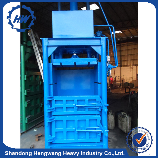 Vertical Type Small Compression Bailer Machine Hydraulic Compress Baler vertical baler