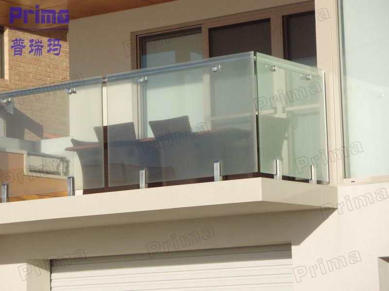 Estilo de lujo de cristal balc n barandilla de aluminio - Barandillas de seguridad para escaleras ...