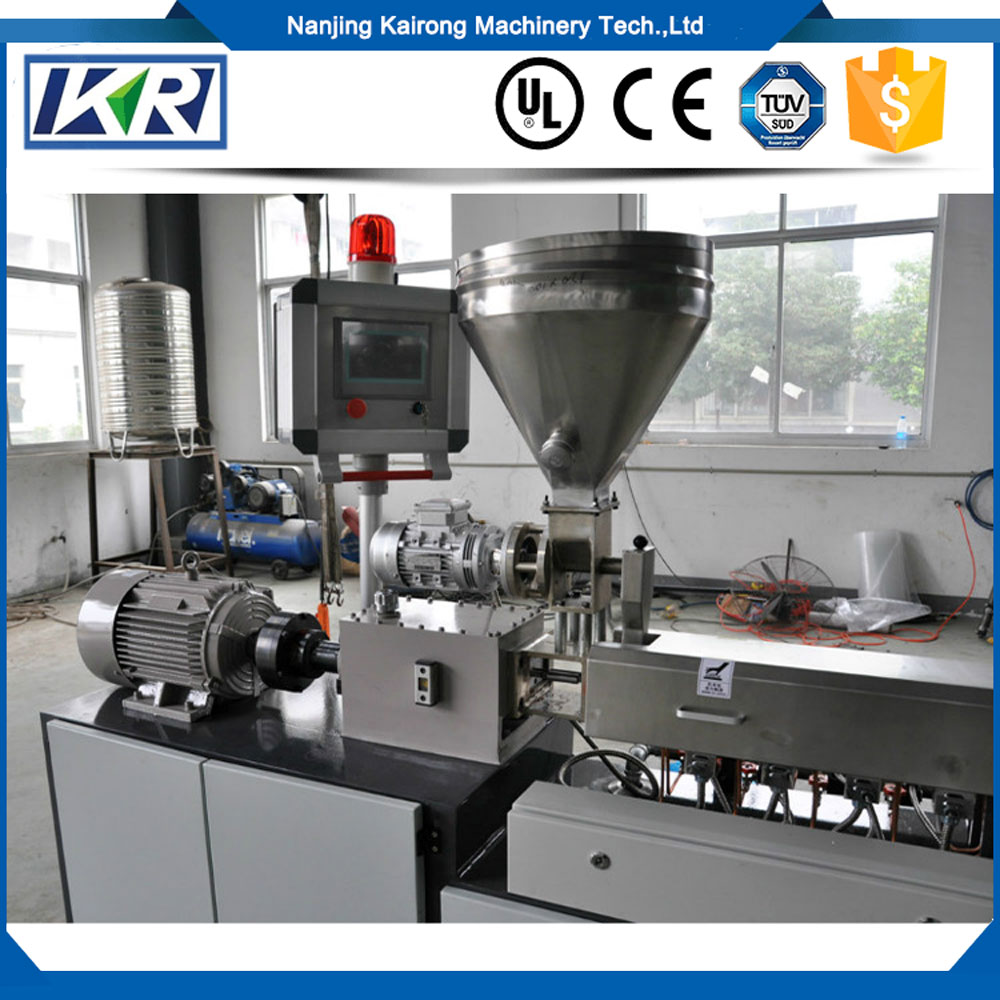 High Speed Extrusion Line Plastic Extruder Machine Sale/Mini Lab PC ABS Blending Extrusion Pelletizer
