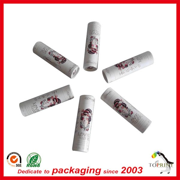 high end recycled cosmetic paper tubes packaging cardboard lip balm tube lip balm stick container