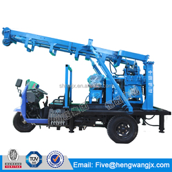 tricycle drilling rig machine/tricycle drill rig/100-200 meters tricycles carry water well drilling rig