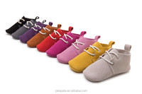 top quality 100% handmade suede genuine leather baby oxford shoes crib newborn moccasins boots