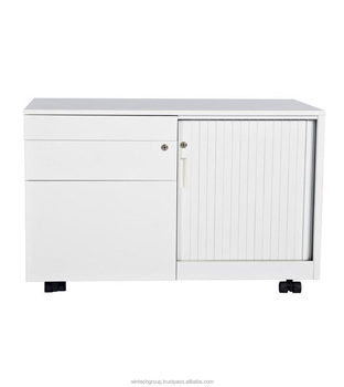 Good High Quality Office Furniture Stainless Steel Filing Cabinet Caddy With ABS  Tambour Door Lock Cabinet Malaysia