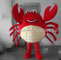 hot sales red crab mascot costume red crab cosplay cartoon lovely red crab cartoon costume