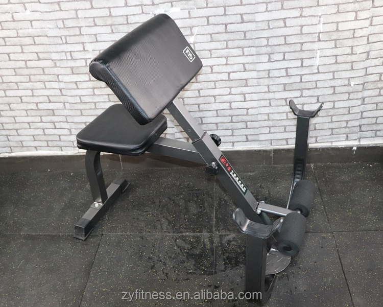 Commercial Gym Weight Lifting Equipment Scott Bench
